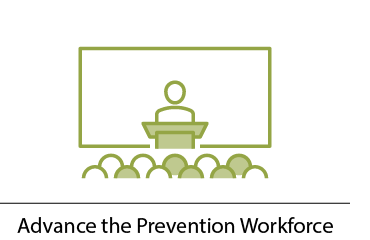 Advance the prevention workforce, presenter in front of group of people