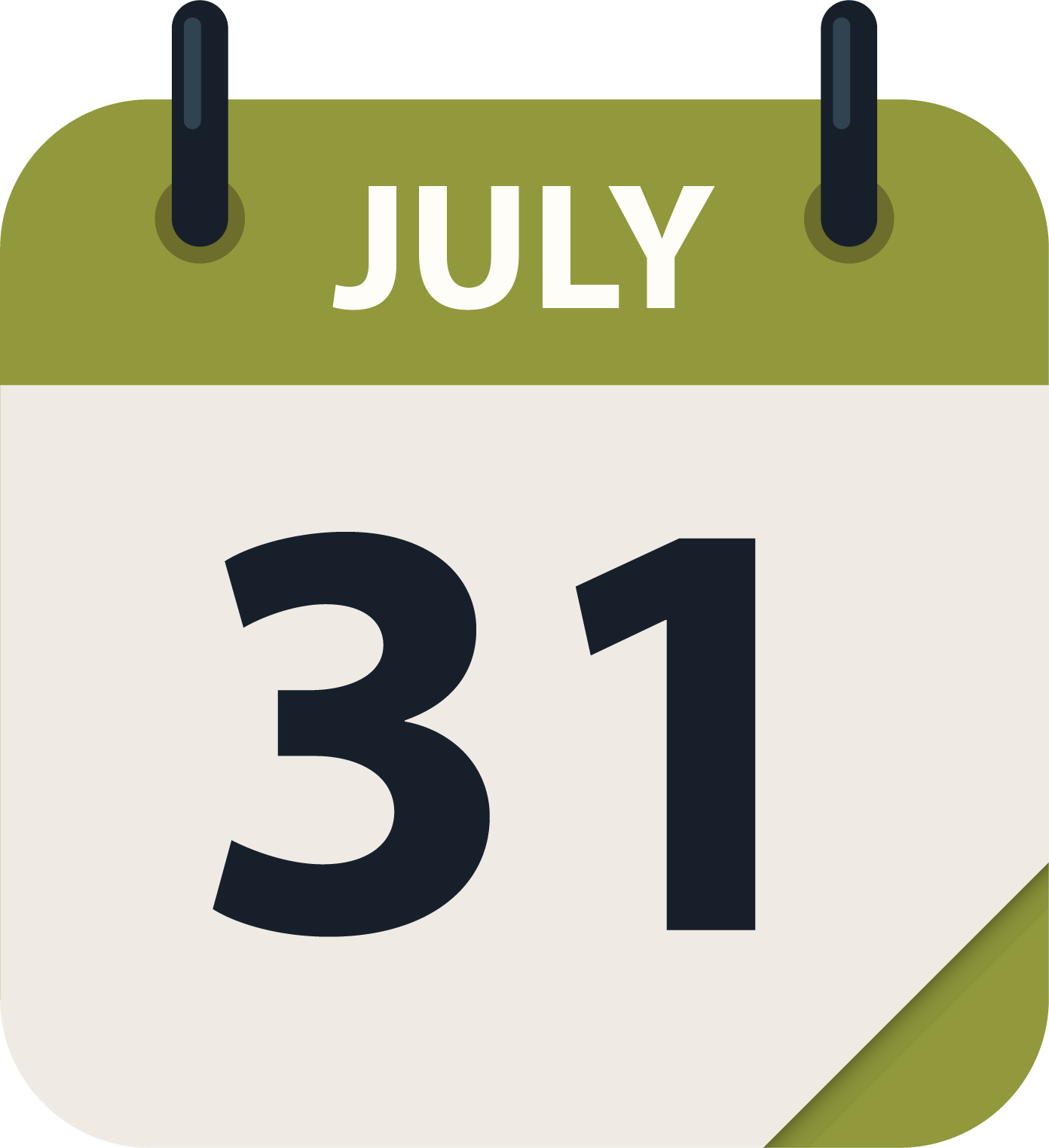 July 31 cal icon