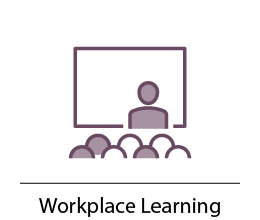 Workplace learning, speaker in front of audience