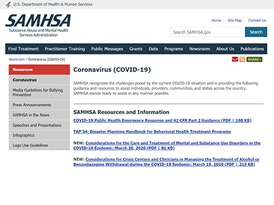 SAMHSA screenshot