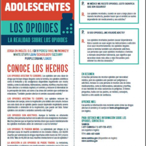 Teens Sheet Opioids
