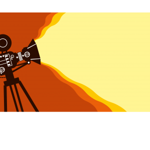 vector image of film camera