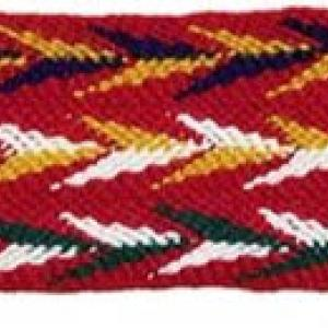 image of finger woven Native American sash