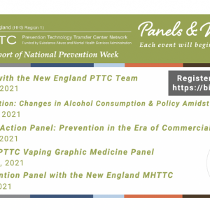 National Prevention Week with the New England PTTC (HHS Region 1)