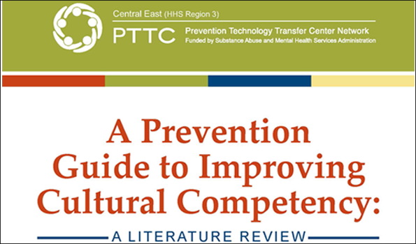 A Prevention Guide to Improving Cultural Competency cover page sized for Product