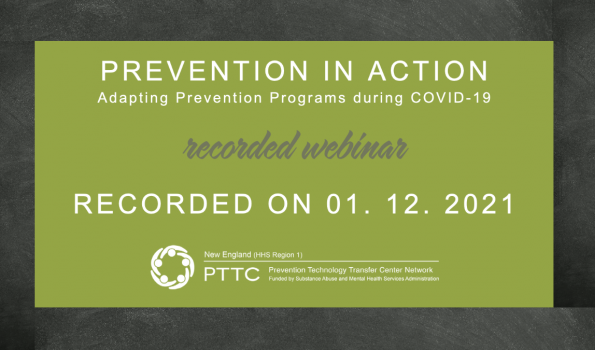 Social Media Image for recorded webinar titled - Prevention in Action Webinar: Adapting Prevention Programs to COVID 19