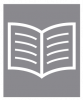 A white icon of an open book or newspaper on a dark grey colored background.