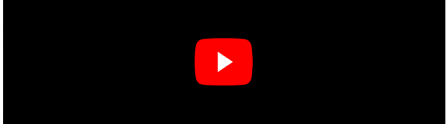 Black YouTube Screen with red play button
